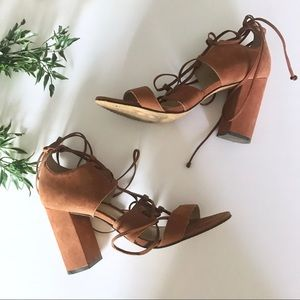 Vince Camuto Brown Strappy Heels